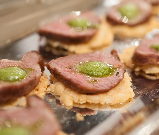 Spring Lamb Loin with English Pea Pesto